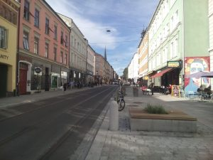 Street in Oslo with houses